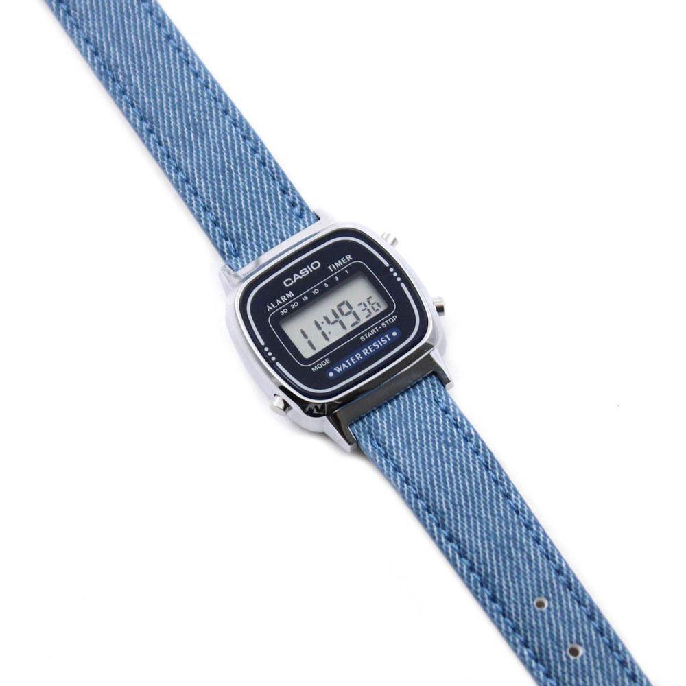 aafd2b60306 Relógio Casio Feminino Mini Dourado E Preto Retrô Digital