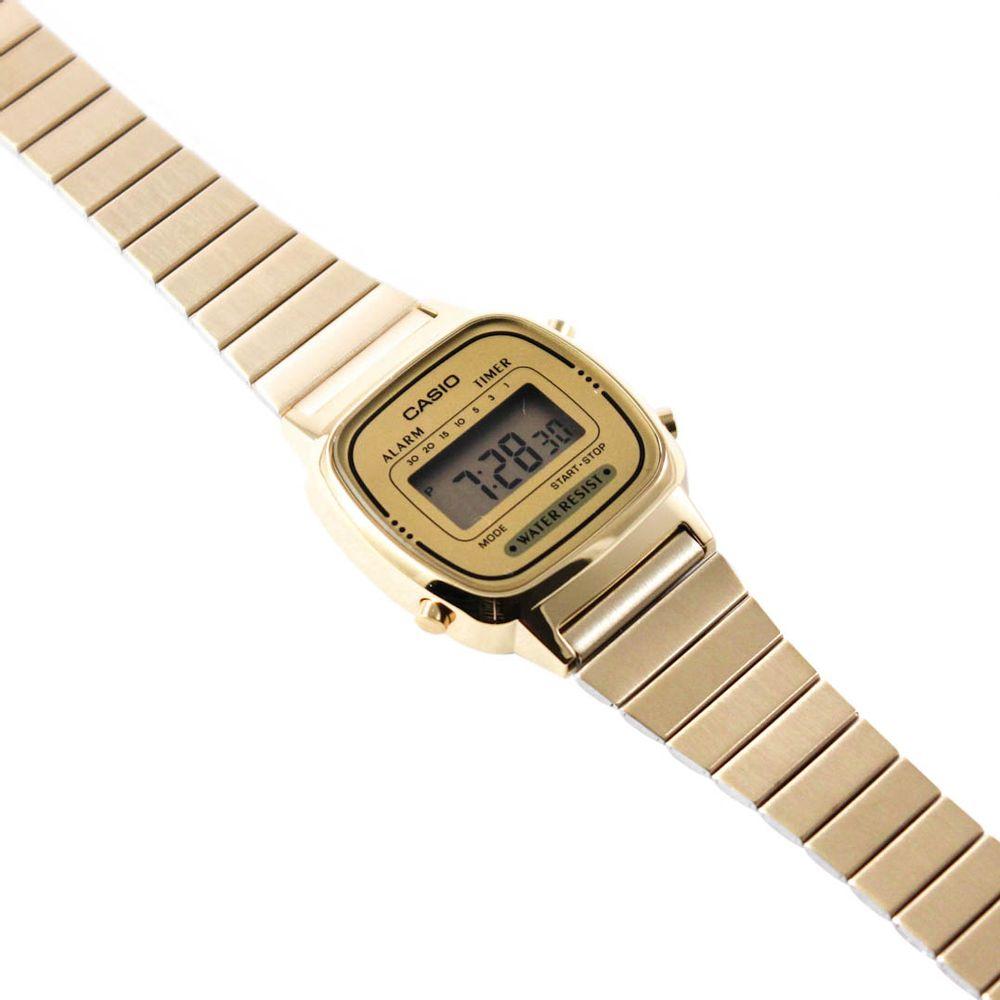78825a93311 Relógio Casio Vintage Mini Dourado • LA670WGA-9DF • Laços de Filó ...