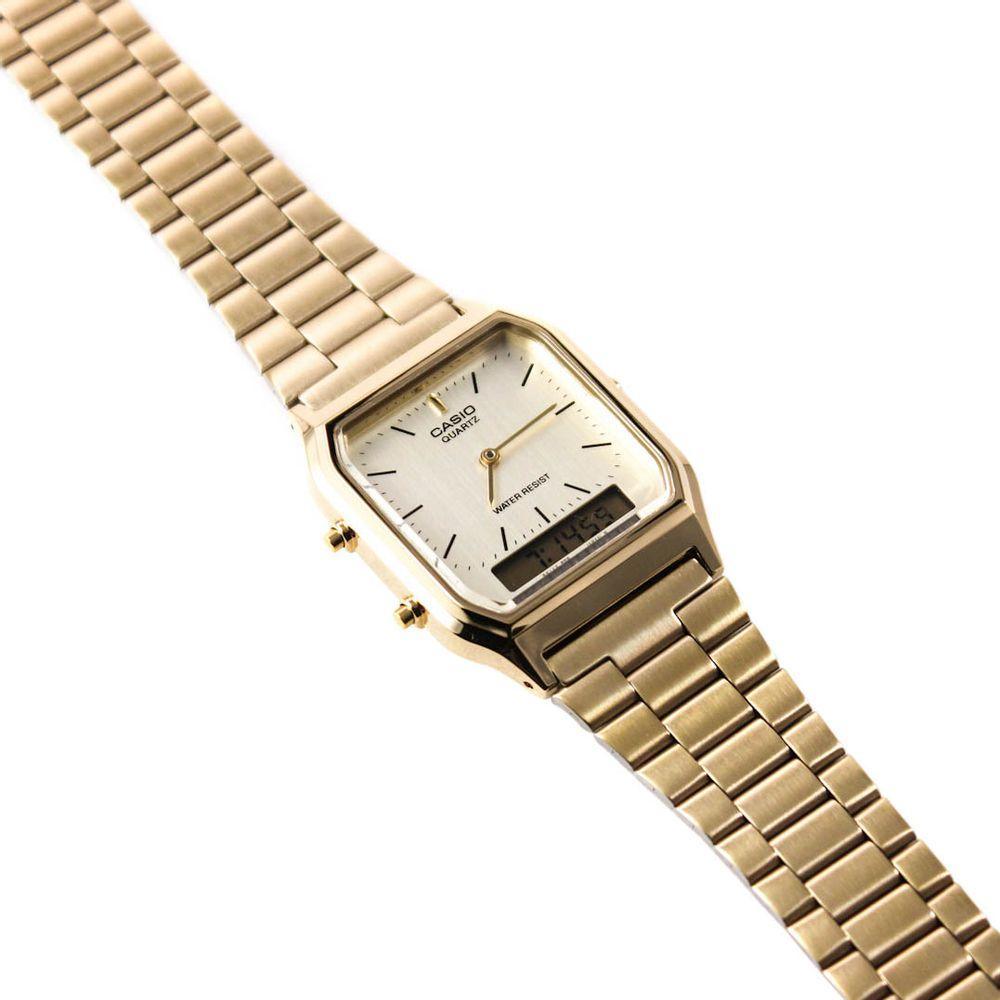 beec463d21d Relógio Casio Vintage Analógico Dourado