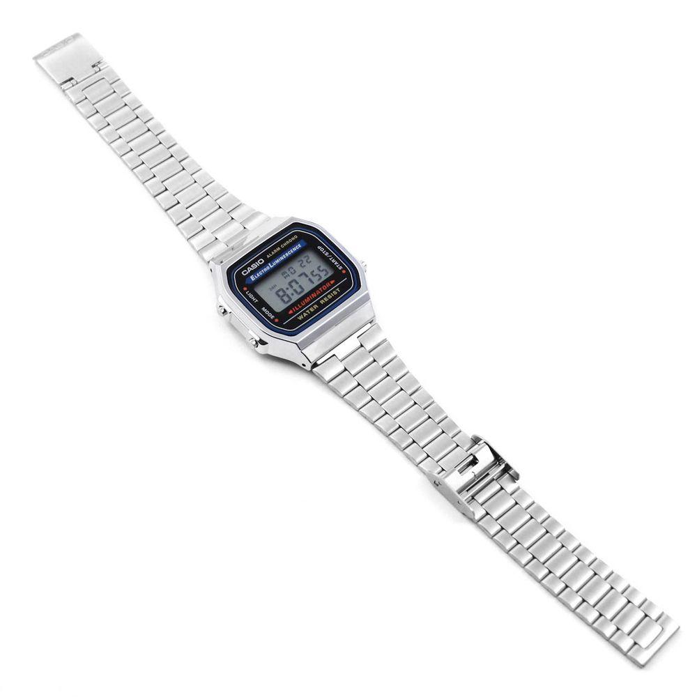 Relógio Casio Vintage Tradicional Prateado • A168WA-1WDF