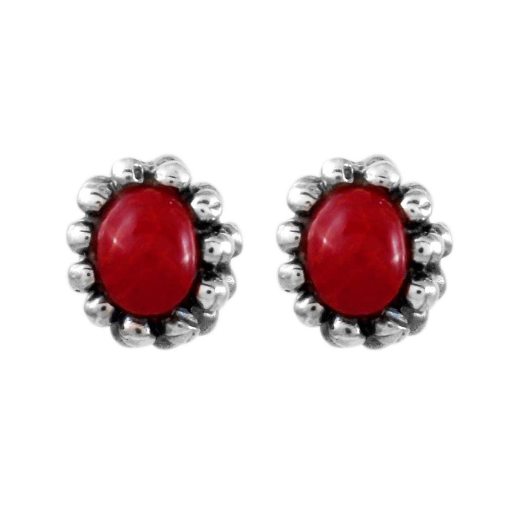 Brinco-Oval-Bolinhas-Vermelho-Pequeno-Prata-925-01