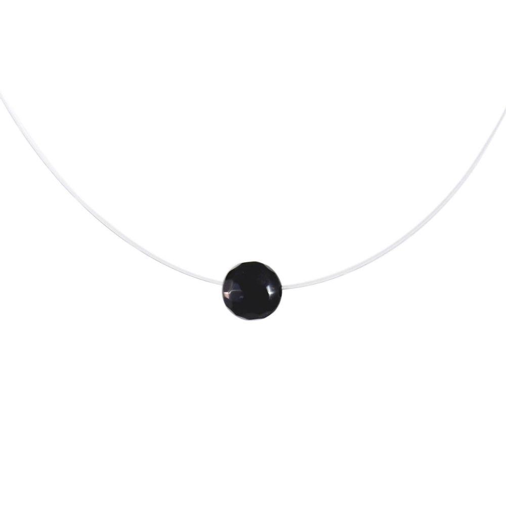 Colar-Choker-Transparente-Agata-Negra-Pequeno-Prateado-01