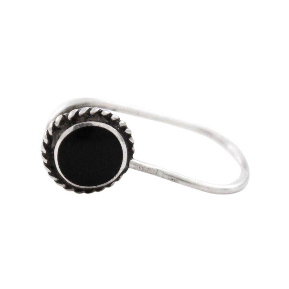 Brinco-Ear-Cuff-Aro-Unico-Pedra-Redonda-Preta-Prata-925-01