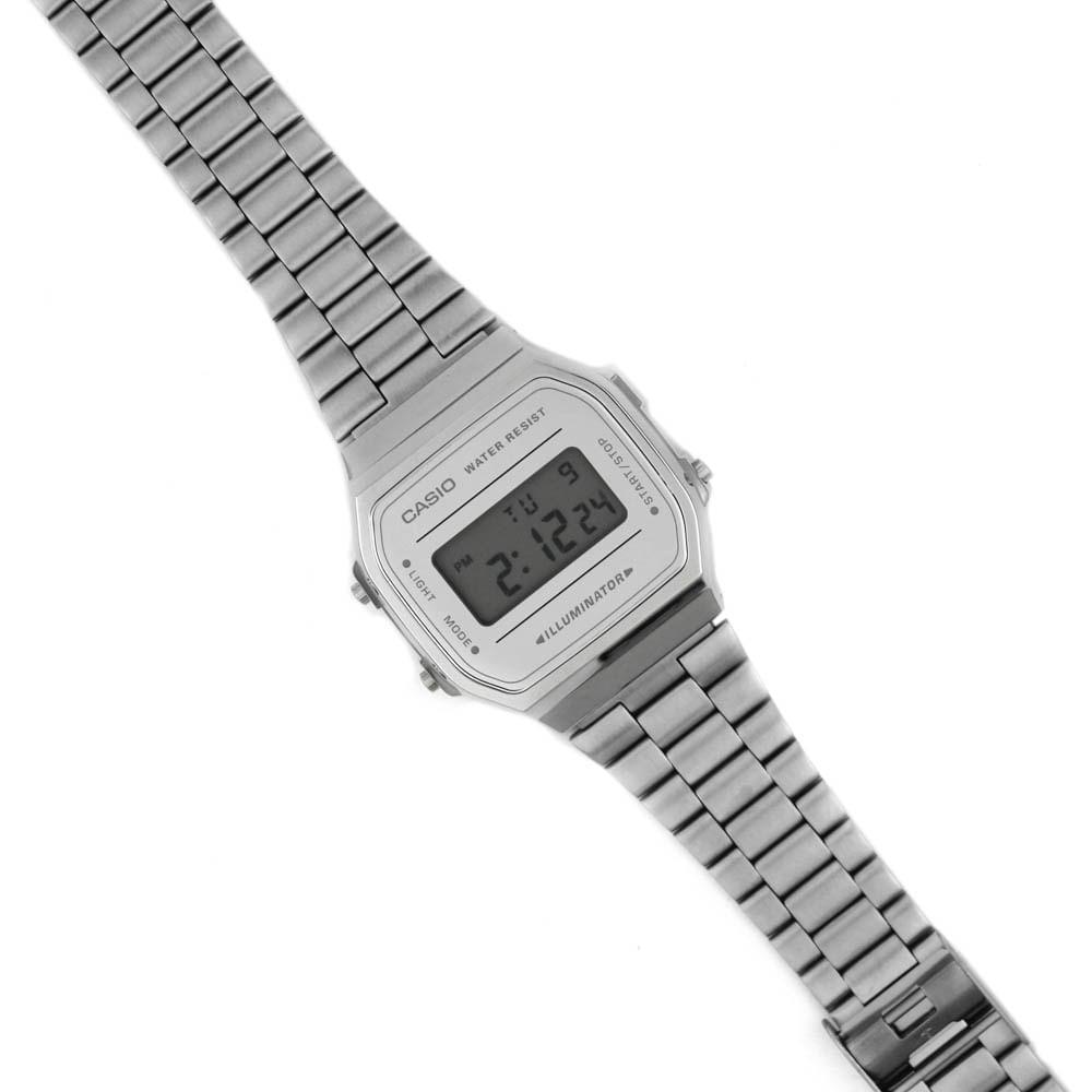 f51c1240392 Relógio Casio Vintage Tradicional Espelhado Cinza Prateado • A168WEM ...