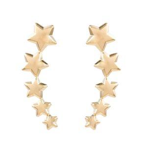 Brinco-Ear-Cuff-Estrelas-Lisas-Dourado-Folheado-01