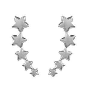 Brinco-Ear-Cuff-Estrelas-Lisas-Prateado-Folheado-01