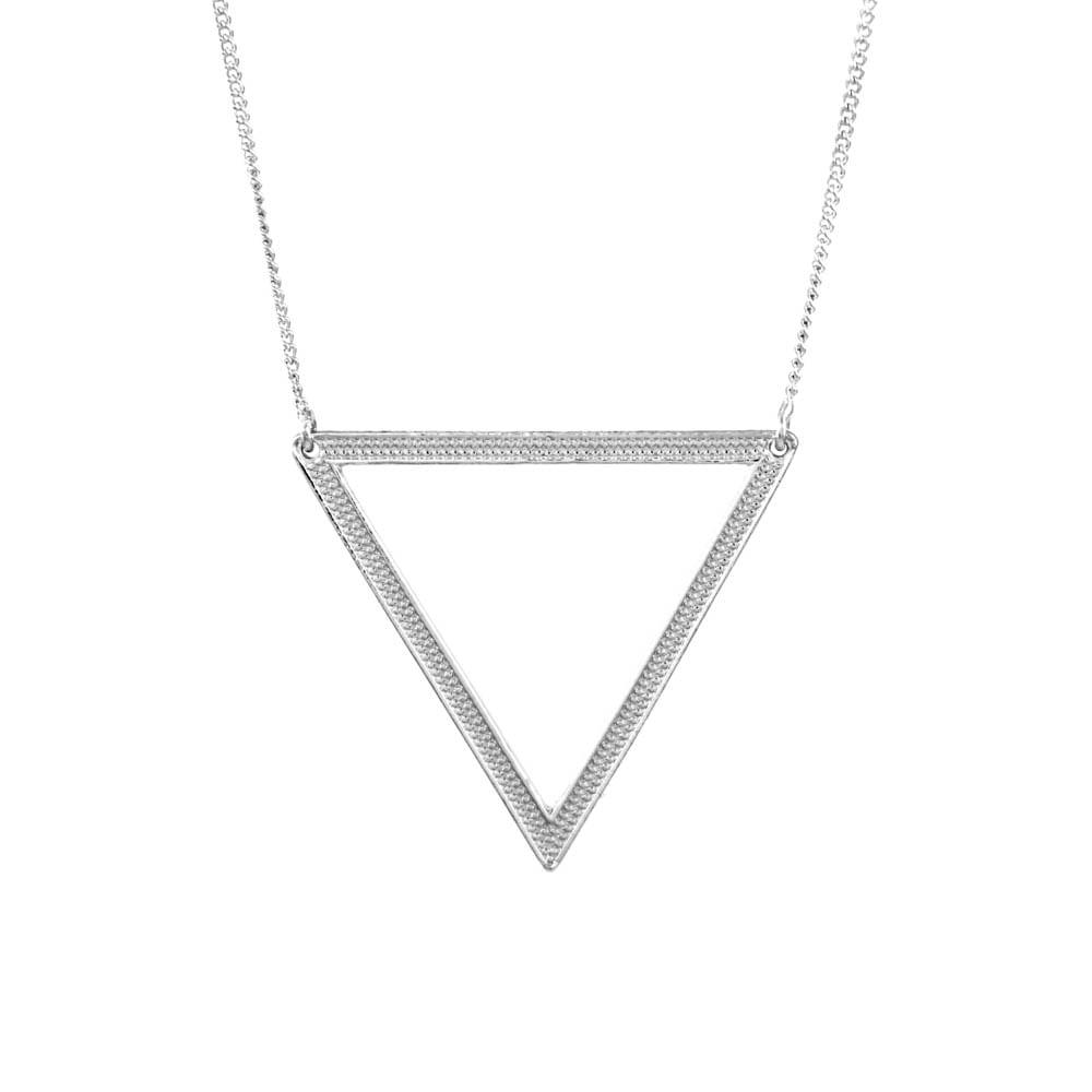 Colar-Triangulo-Textura-Bolinha-Prateado-Folheado-01