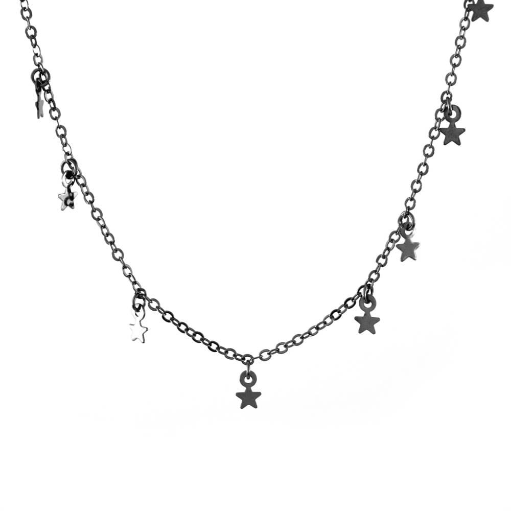 Colar-Choker-Estrelas-Mini-Penduradas-Grafite-Folheado-01
