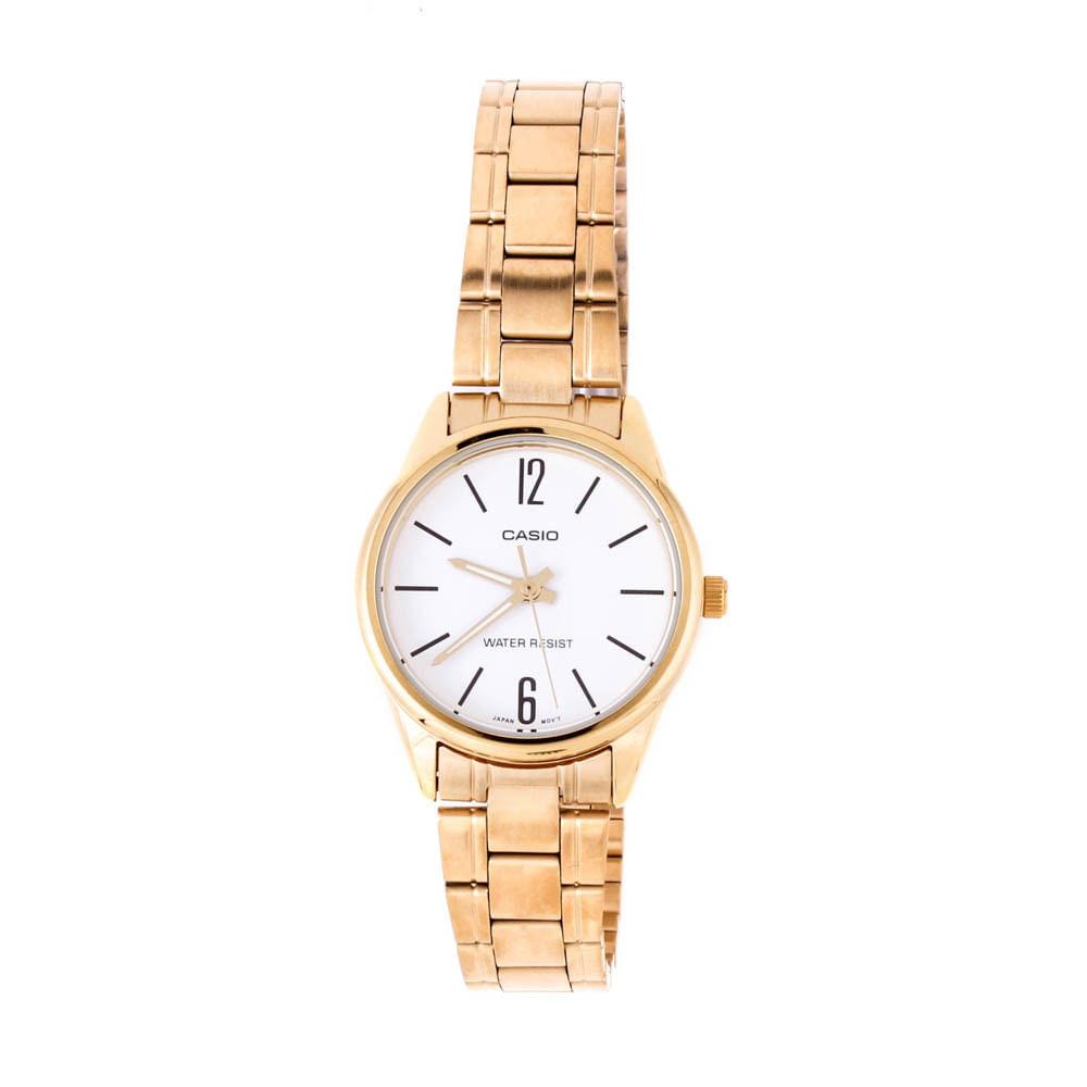 73be7a98f83 Relógio Casio Vintage Redondo Mini Branco Dourado • LTP-V005G-7BUDF ...