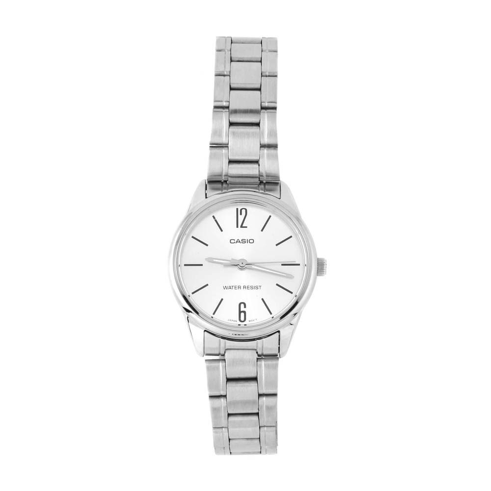 42148889d6c Relógio Casio Vintage Redondo Mini Branco Prateado