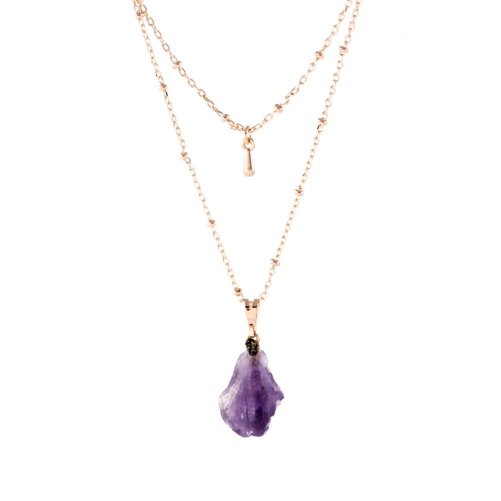 Colar-Duplo-Pedra-Ametista-Bruta-Gota-Pequeno-Dourado-Folheado-01