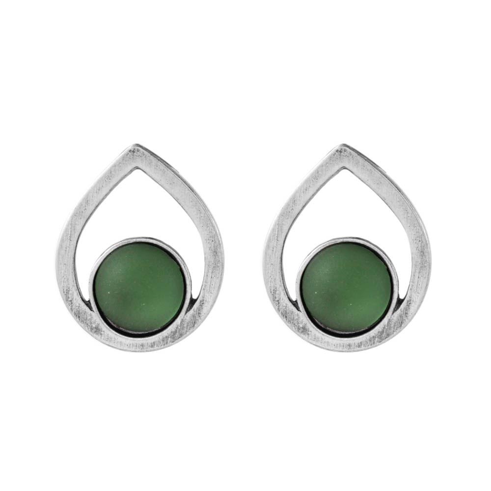Brinco-Gota-Pedra-Redonda-Verde-Medio-Prateado-01