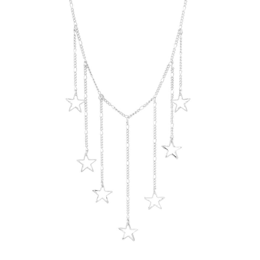 Colar-Choker-Constelacao-Estrelas-Cadentes-Prateado-Folheado-01