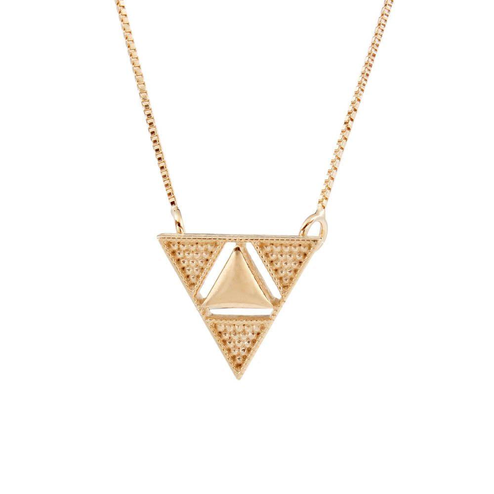 Colar-Quatro-Triangulos-Bolinhas-Liso-Dourado-Folheado-01