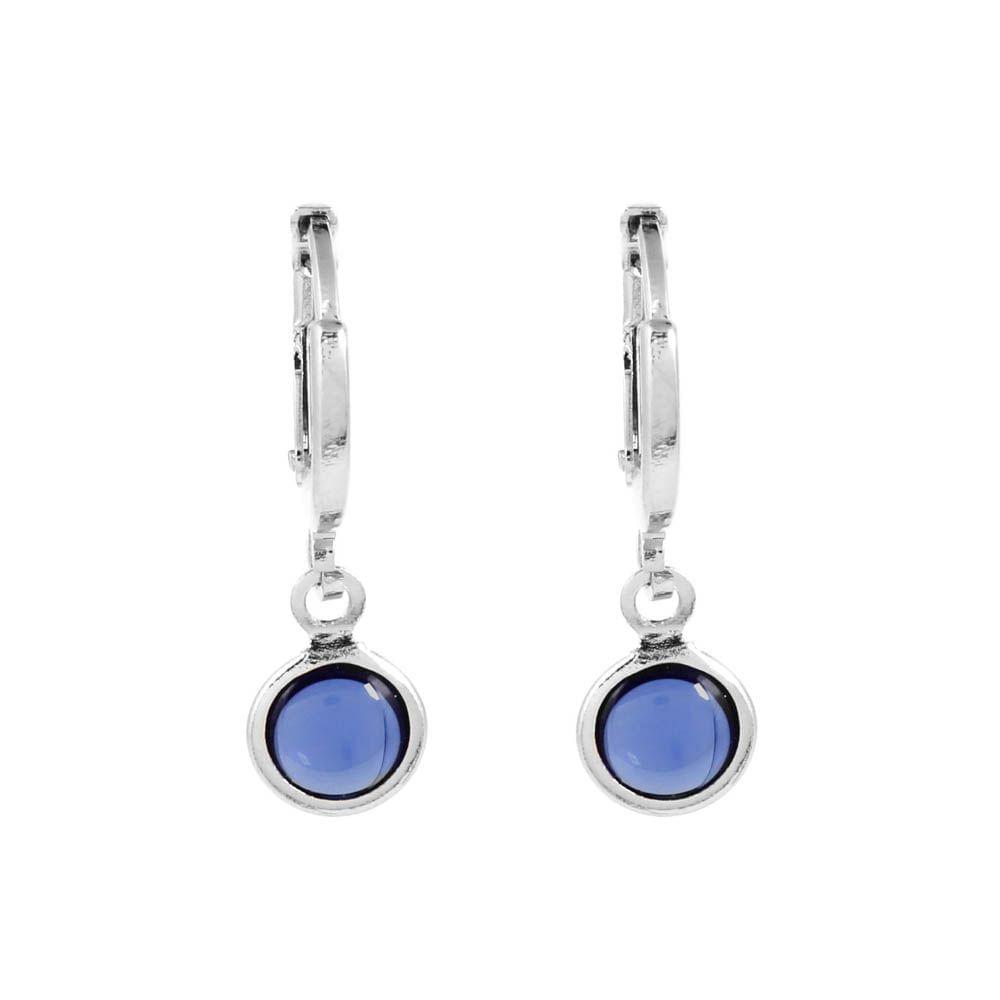 Brinco-Argola-Pedra-Redonda-Azul-Pequeno-Prateado-Folheado-01