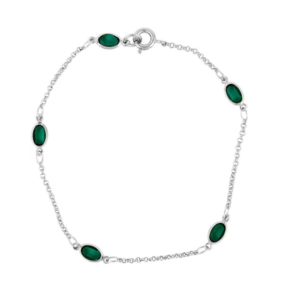 Pulseira-Pedrinhas-Ovais-Verde-Prateado-Folheado-01