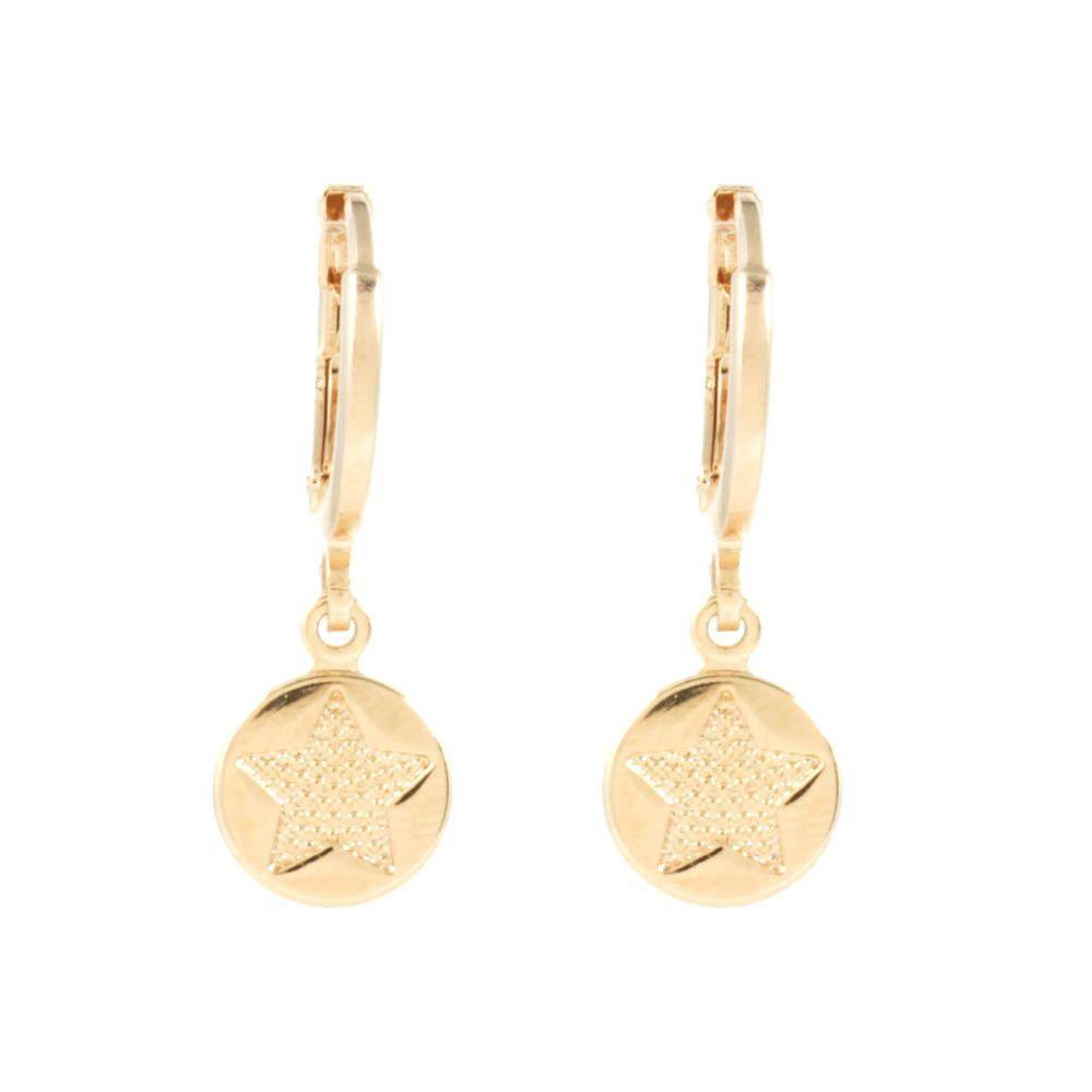 Brinco-Argola-Medalha-Estrela-Pequeno-Dourado-Folheado-01