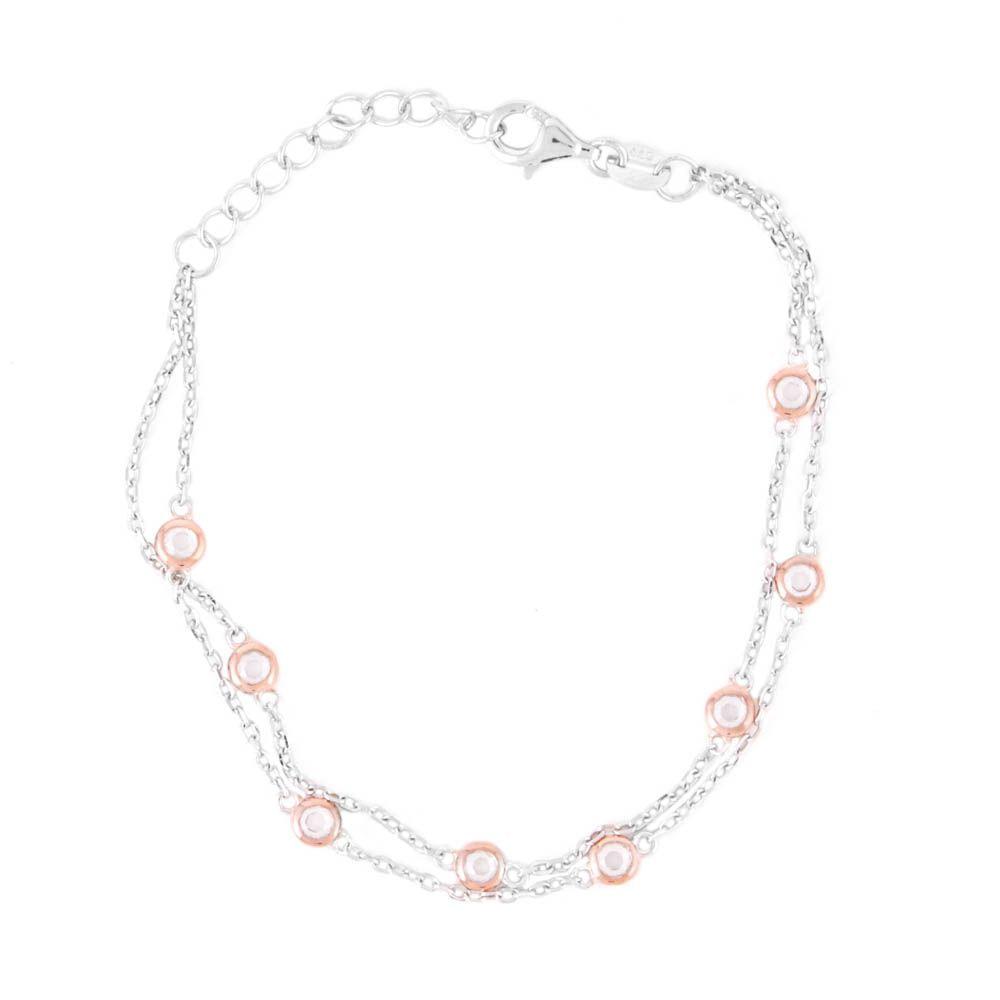 Pulseira-Dupla-Ponto-de-Luz-Mini-Rose-Prata-925-01