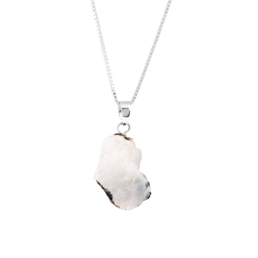 Colar-Pedra-da-Lua-Bruta-Pequena-Curto-Prateado-Folheado-01