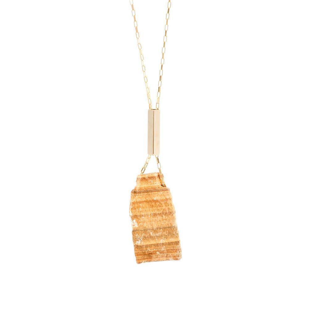 Colar-Pedra-Bruta-Jaspe-Madeira-Grande-Dourado-Folheado-01