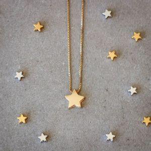 Colar-Estrela-Lisa-Solitaria-Dourado-Folheado-01