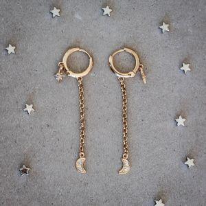 Brinco-Argola-Estrela-Lua-Pendurada-Pequeno-Dourado-Folheado-04